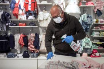 Mesures sanitaires dans les magasins de mode